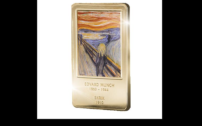 Edvard Munchs Skrik på kunstbarre