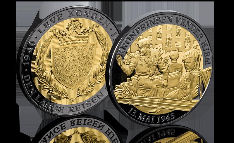 Nummerert spesialutgave belagt med 24 karat gull og sort platina
