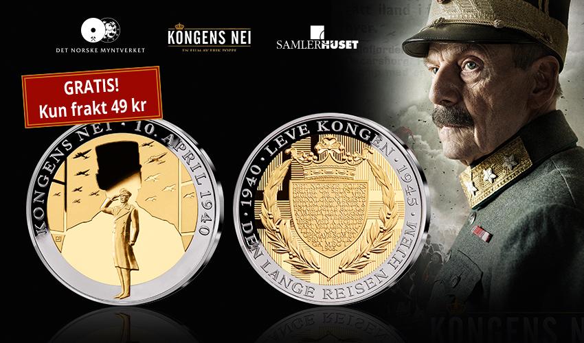 """""""Kongens Nei"""" hedres på offisiell minnemedalje - gis bort gratis!"""