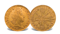 Louis d'ors Frankrike 1640-1792 gullmynt