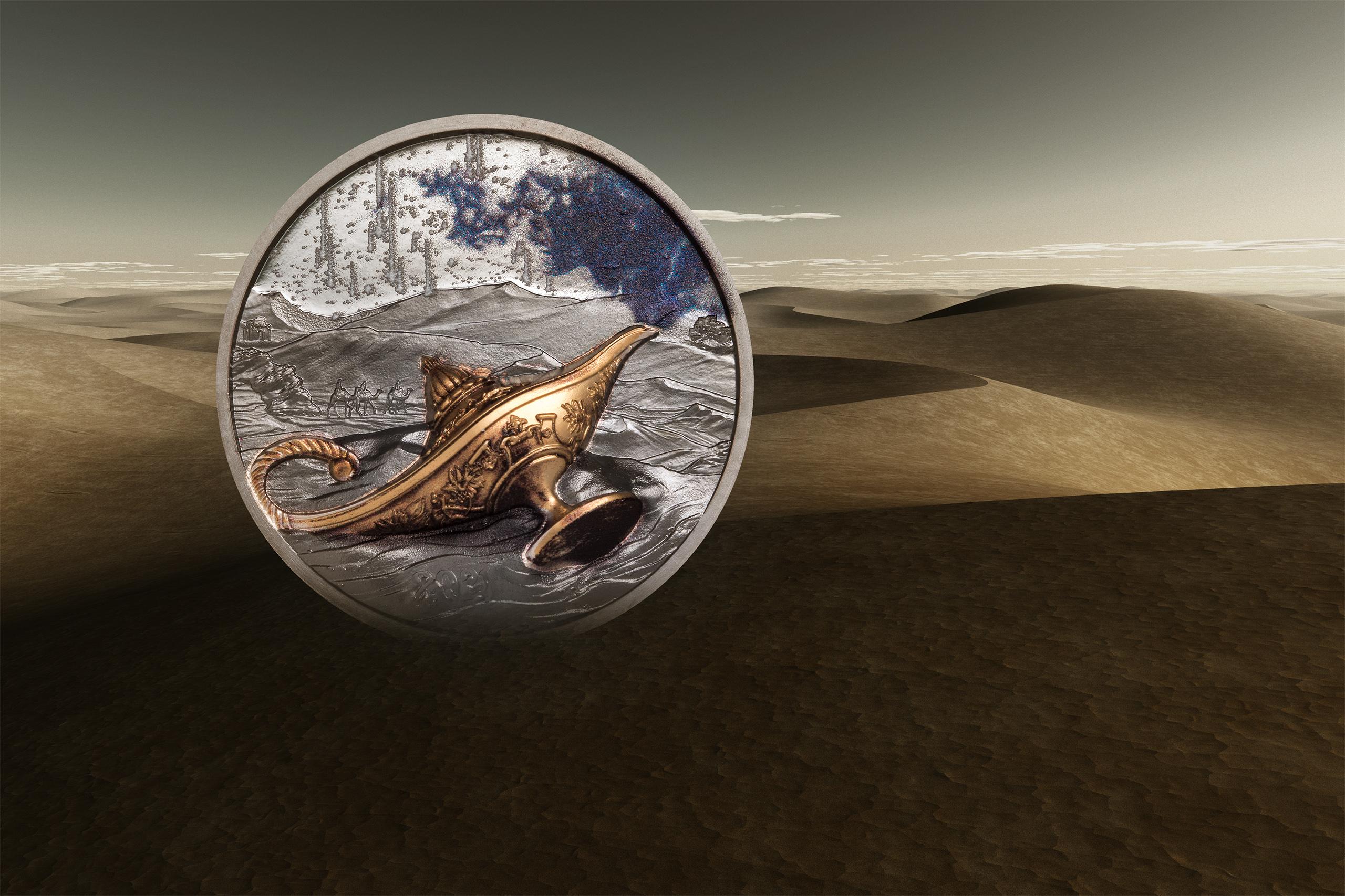 Magiske lampen-sølvmynt