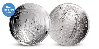 Man on the moon 50 years silver coin