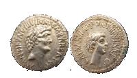 Denarius Marcus Antonius Octavian