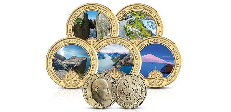 Spektakulære minnemedaljer belagt med 24 karat rent gull.