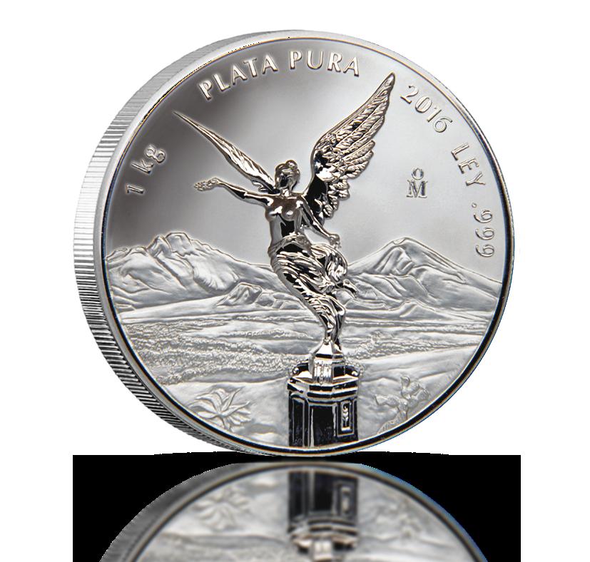 1 kilo rent sølv fra Mexico – verdenskjente «Libertad»