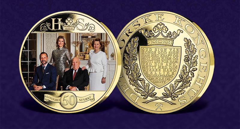 Unike minnemedalje av vår herlige kongefamilie: