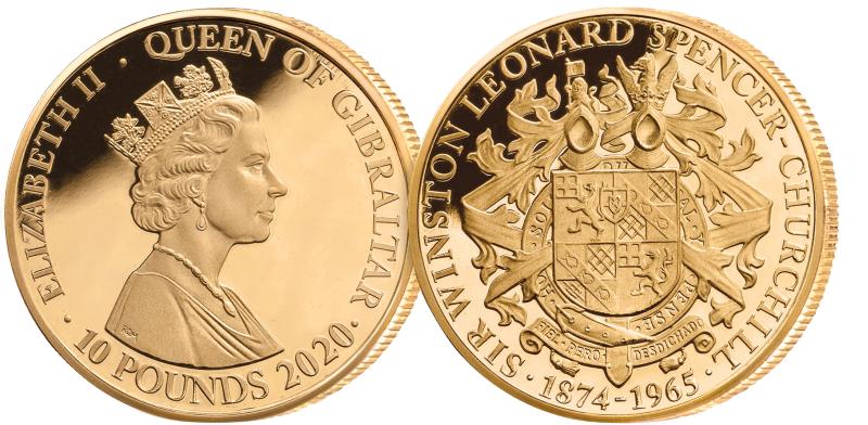 Gullminnemynt hedrer Winston Churchill