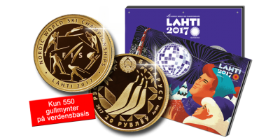 Minnemyntsett til Ski-vm i Lahti 2017