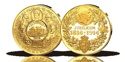 Minneutgave i gull Grunnlovens 100 års jubileumsmedalje