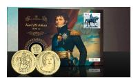Myntbrev Karl III Johan - Norges konge 1818-1844