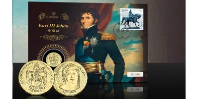 Myntbrev Karl III Johan - Norges konge 1818-1844 PP
