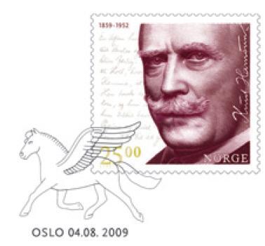 KnutH amsun frimerke med stempel
