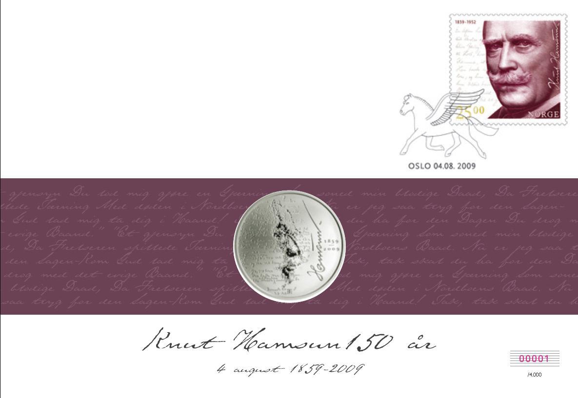 Knut Hamsun myntbrev