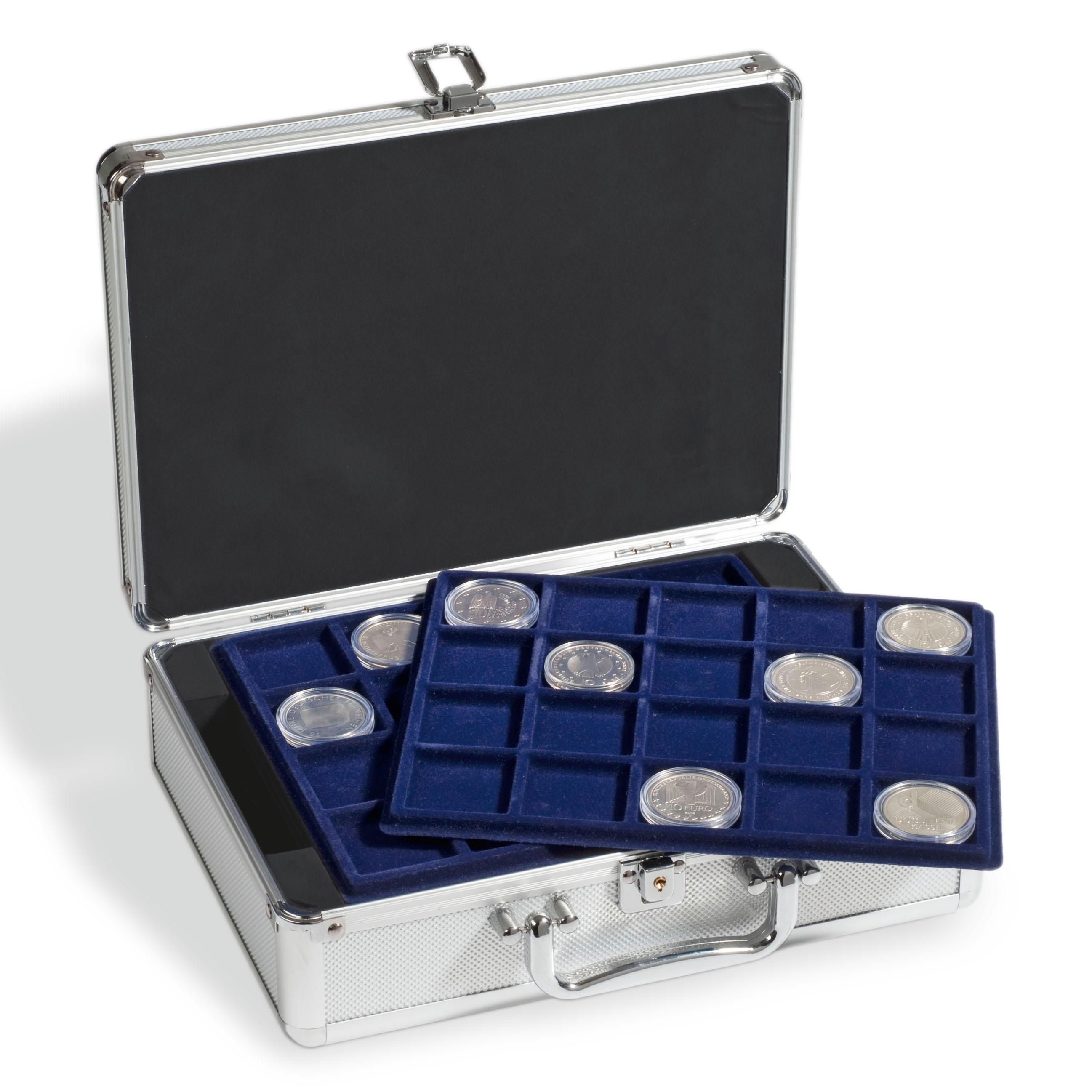 Myntkoffert i aluminium look