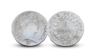 Napoleon 5 franc advers og revers