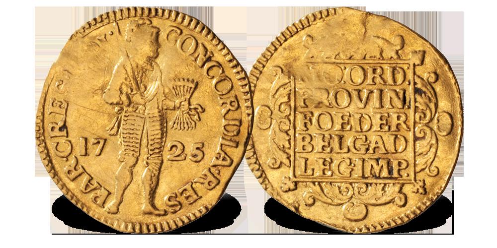 Dukat i gull 1725