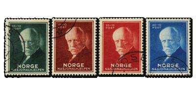 NK 193-196 og 233-236 o stemplet