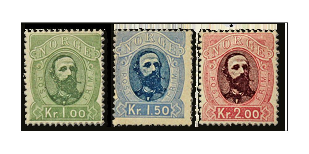 137 år gamle historiske frimerker utgitt under Kong Oscar II