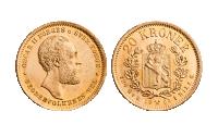 Kong Oscar II og unionstidens aller siste 20 kroner i gull fra 1902