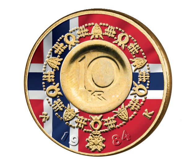 Flagget på 10-krone