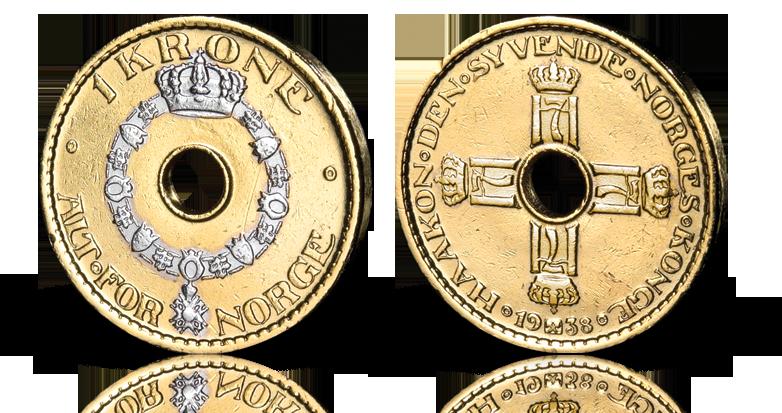 Norges første 1-krone med hull