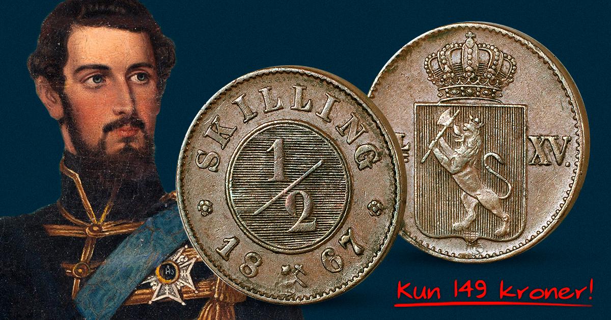 Over 150 år gammel norsk originalmynt: