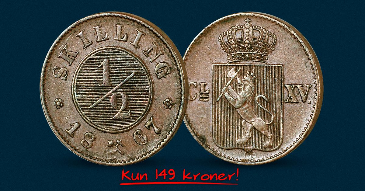 Norges aller siste halvskilling til kun 149 kroner!