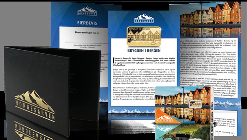 Norgesarven gullbarrer samling