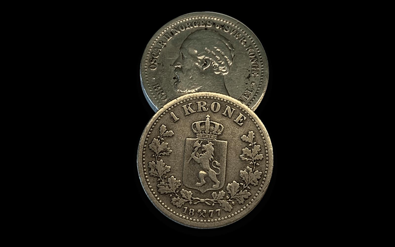 Sikre deg Norges første rene 1-krone i sølv!