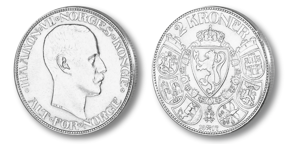 Norges aller siste 2-krone i sølv: