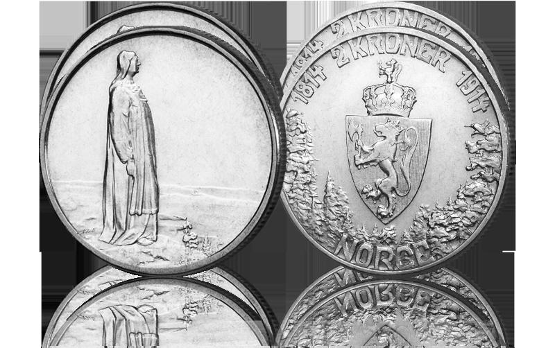 Spar 250 kroner - Norges aller siste 2-kroner minnemynt i sølv!