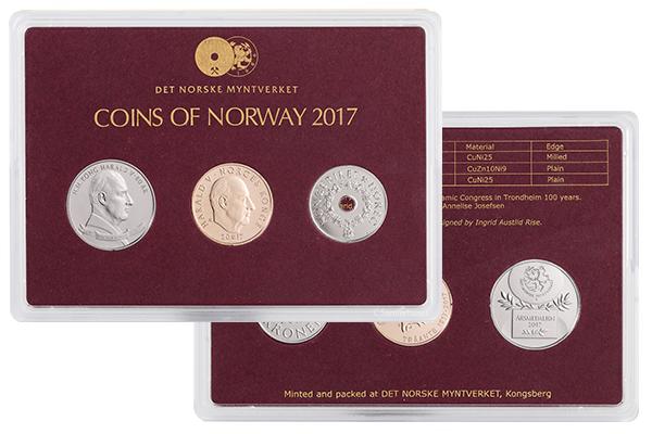 Det Norske Myntverket: Årssett 2017 i klassisk utgave