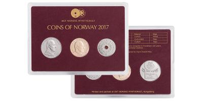 Norsk årssett myntsett 2017