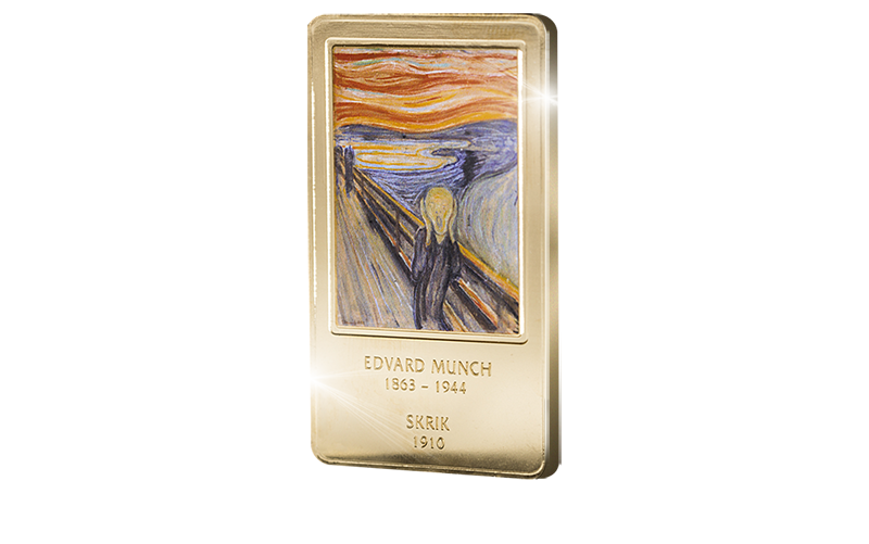 Verdensberømte «Skrik» på kunstbarre belagt med 99,9% rent gull