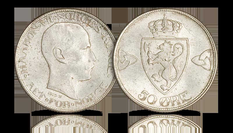 Norges siste 50-øre i sølv - kun 149 kr!