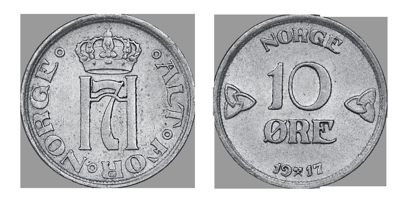 Original norsk 10-øre i sølv til kun 49 kroner!