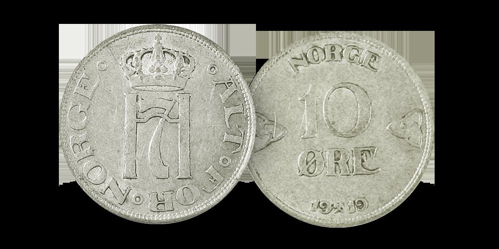 Norges aller siste 10-øre i sølv