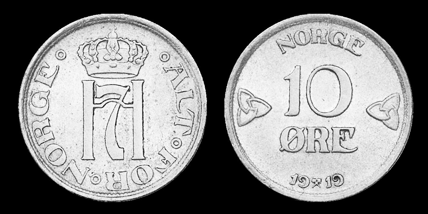 Norges siste 10-øre i sølv - kun 49 kr!