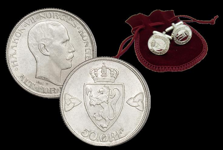 Norges nest siste 50-øre i sølv til kun 95 kroner!