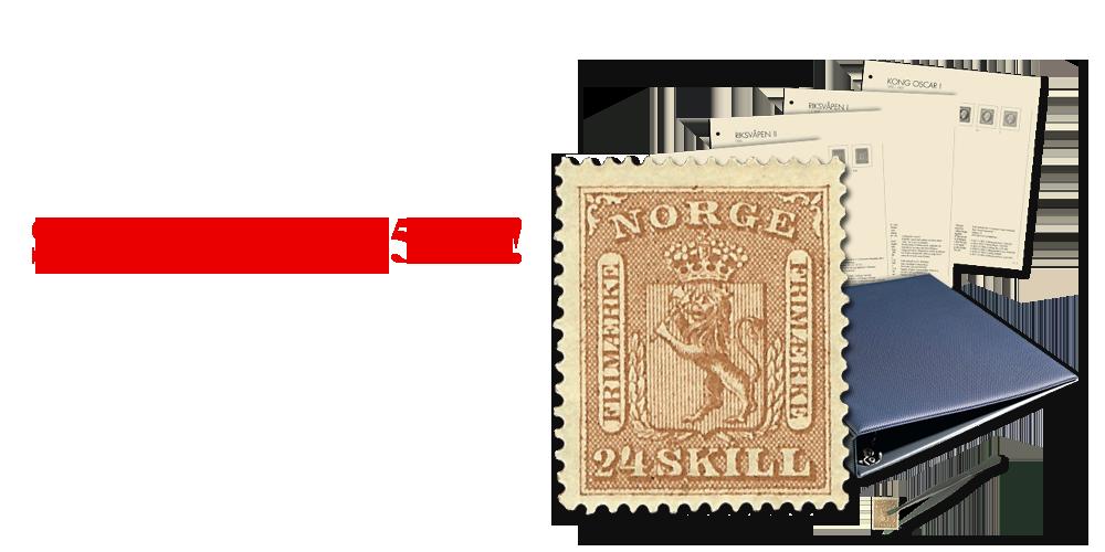 Originalt frimerke fra 1863 i perfekt kvalitet