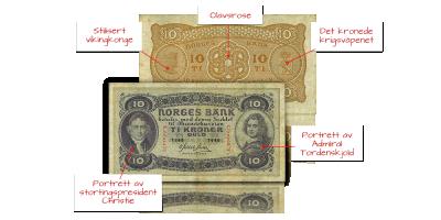 Norske sedler 10 kr 2. Utgave 1940-1944 web