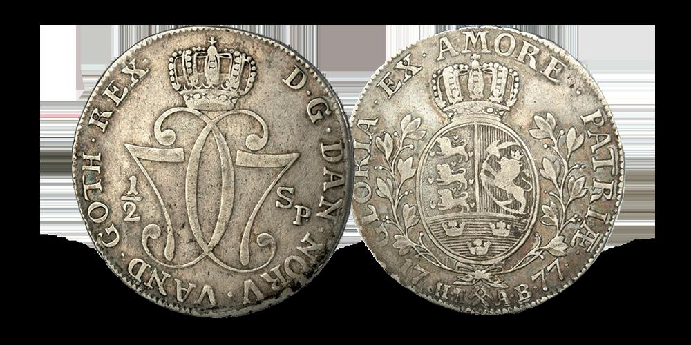 Kong Christian VII eneste halvspeciedaler