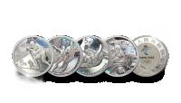 4 stk. offisielle sølvmynter OL i Beijing