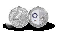 OL Tokyo 2020 offisiell sølvmynt Badmington