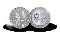 OL Tokyo 2020 sølvmynt Baseball