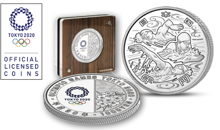 Issue information: Commemorative Silver Proof Coins from the Olympic Games Tokyo 2020