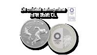 OL sølvmynt med slegge og sprint utøver