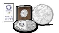 OL Sølvmynt advers, revers og kapsel