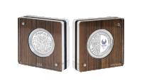 Serie 1 OL i Tokyo paralympics sølvmynt i kapsel
