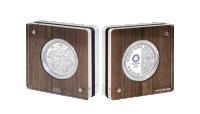 Serie 1 OL i Tokyo sølvmynt i kapsel